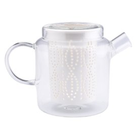 Glass Teapot With Porcelain Infuser 700ml £38